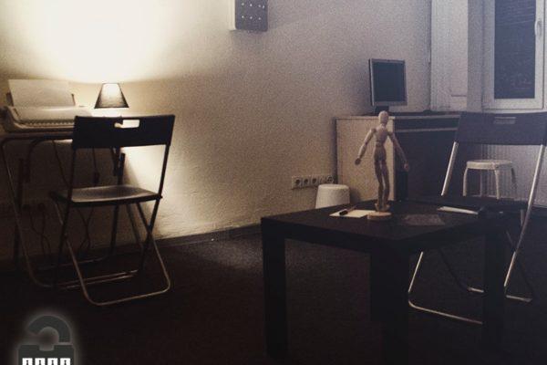 atrakink laboratorijos pabėgimo kambario foto