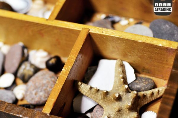 atrakink jūros žvaigždė dėžutėje