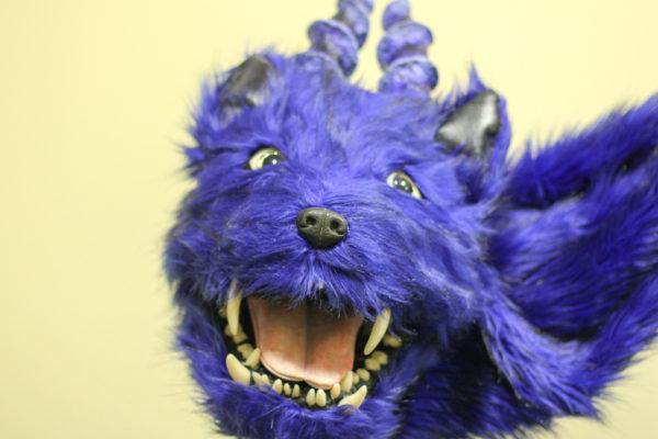 atrakink pagalbininkas mėlynasis drakonas išsižiojąs